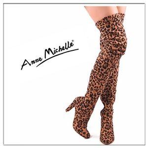 """🐆 Anne Michelle """"Monet-2"""" leopard print boots"""